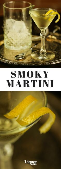 The Smoky Martini Cocktail Recipe: Replace the vermouth in a classic Martini with scotch and you get something altogether different.