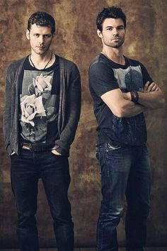 Joseph Morgan and Daniel Gillies portray the characters of Niklaus and Elijah Mikaelson.....