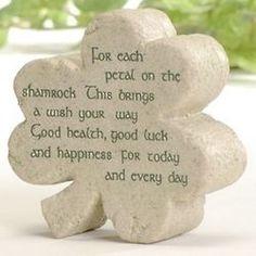 Warm Wishes Blessing Shamrock Plaque #findgift