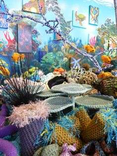 Hyperbolic Crochet Coral Reef Project, St. Petersburg, FL  Summer 2012