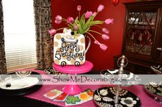 Bridal Shower Blog- #CotonColor's Happy Everything platter with #seasonal attachments serves as part of the #centerpiece is the #brides #gift!