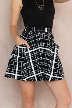 Nichola Plaid Skirt