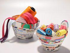 Manualidades y Artesanías | Cuencos de papel | Utilisima.com