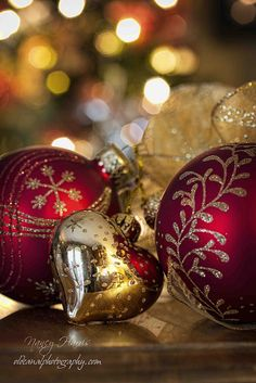 Bokeh and ornaments by Nancy Harris