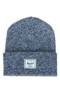 A logo patch adds signature style to this cozy knit beanie that'll keep the ears toasty and warm.