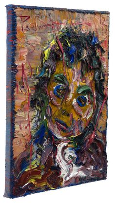 UNTITLED o12  Oil Paint over magazine image mounted on Gallery Wrapped Stretched Canvas with Acrylic Polymer of 12 by 9 by 3/4 in.(22.6 cm by 30.5 by 1.9 cm.) Catalogue Reference: o12 2013