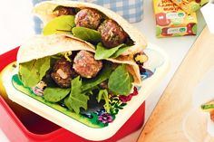 These lamb meatball and yoghurt pita pockets are a delicious and nutritious lunch box solution.