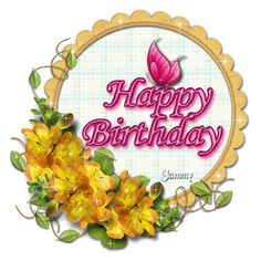Glitter Birthday Wishes | http://www.glitters123.com/birthday/circle-of-wishes-happy-birthday/