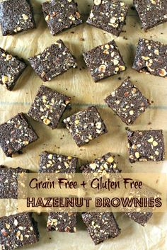 Hazelnut Brownies recipe #food #paleo #glutenfree