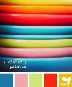 Mais combinações de cores para inspirar!  Via Seeds