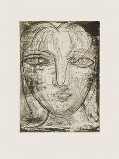 portrait de mariethrse de face by pablo picasso prints