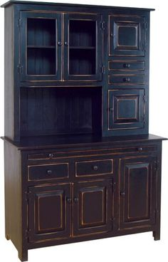 black antique kitchen cabinets - Google Search