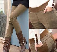 Mel moda novos 2.014 espessantes calças de veludo de outono e inverno das mulheres legging calças calças caem emale queimado calça jeans KZ4215