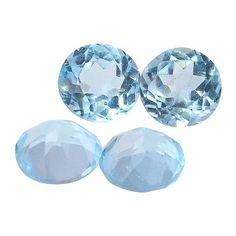 Wanna Create Your Own Jewelry? 10.35ctw Sky Blue Topaz Loose Gemstone (Set of 4)