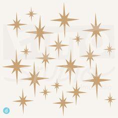 Twinkle Twinkle Little Stars - vinyl decal wall stickers. $25.00, via Etsy.