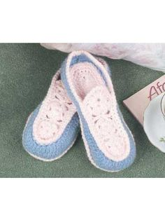 Soft and Comfy Slippers Crochet Pattern - free membership required