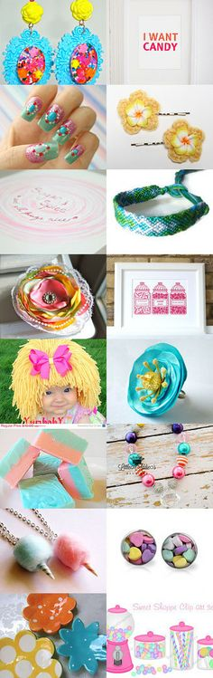 Candyland by Shelley Warnica on Etsy--Pinned with TreasuryPin.com Candyland, Sweet, Etsy, Color, Colour, Colors