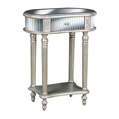 Display a lush bouquet of blooms or cherished family photos atop this glamorous mirrored accent table, showcasing 1 drawer and a lower display shelf.