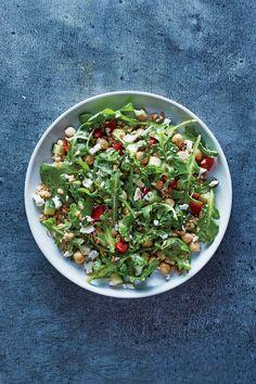 Greek Farro and Chickpea Salad