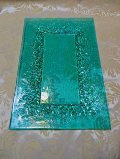 RESERVED FOR Teresapete Fused Glass Aqua and by MagpieAndSquid