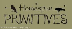 STENCIL Homespun Primitives Folk Art Crow Bird Country Stars Signs U Paint