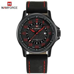 Cheap masculino, Buy Quality masculinos relogios directly from China masculino watch Suppliers: 2017 NEW Top Luxury Brand NAVIFORCE Men Sport Watches Men's Quartz Clock Man Military Waterproof Wrist Watch relogio masculino Mens Sport Watches, Mens Watches Leather, Leather Men, Leather Case, Vintage Watches For Men, Best Watches For Men, Top Luxury Brands, Automatic Watches For Men, Luxury Watches