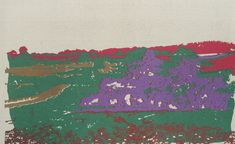 Sept variations sur la vue de ma fenêtre, en pensant à Alexander Cozens, 2009, sérigraphie sur toile, 150 x 300