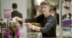 "Justin Bieber Bloopers from Macy's ""What's In Store?"" Love that commercial"