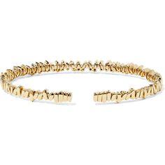 Suzanne Kalan Fireworks 18-karat gold diamond cuff ($10,495) ❤ liked on Polyvore featuring jewelry, bracelets, stackers jewelry, diamond bangles, 18 karat gold jewelry, stacked bangles and 18k jewelry