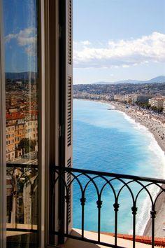 Balcony in Nice, France.