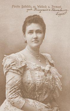 Princesse Bathilde de Schaumburg-Lippe (1873-1962) épouse de Frédéric de Waldeck-Pyrmont