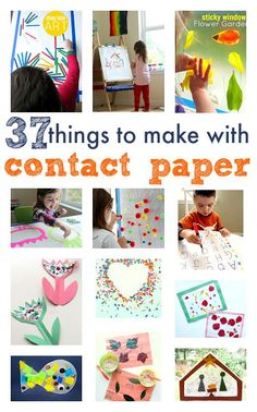 Great ideas for kids that use contact paper. Cute toddler craft ideas!