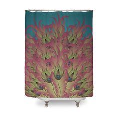 Peacock Feathers | Shower Curtain by The Art Of Warren | Various Designs Available