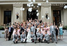 This is a great pic in front of the Vancouver Club - good idea eh?  Especially with the balloons.