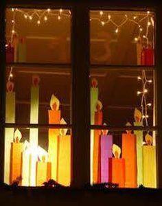 Bildergebnis für Adventsfenster Dekoration Selber Machen Christmas for you Noel Christmas, Winter Christmas, Christmas Lights, Christmas Christmas, Christmas Window Decorations, Navidad Diy, 242, Christmas Crafts, Christmas Ornaments