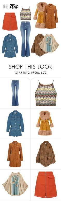 """the 70s"" by thedailyuniform on Polyvore featuring Hudson Jeans, Topshop, AG Adriano Goldschmied, Gucci, Talitha and Calypso St. Barth"