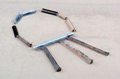 Alja Neuner Chain: Untitled, 2015 silver, Enamel, balsawood
