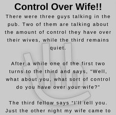 Control Over Wife – Funny Story ! Wife Jokes, Wife Humor, Happy Stories, Funny Stories, Short Stories, You Funny, Really Funny, Funny Pics, Funny Things