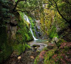 Fraga de Pena Waterfall by Daniel Santos