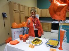 #HungerActionMonth 2013 - Orange Food and Balloons!