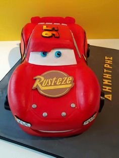 3d lightning mcqueen car cake template free Google Search