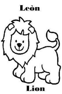 Imagenes Para Dibujar En Ingles Y Espanol Animales De La Selva Par Animales Faciles De Dibujar Animales Salvajes Para Colorear Animales Animados Para Colorear