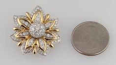 I had NO IDEA jewelry cost this little! Mother, did you know that we could buy a  beautiful piece like this for a quarter?!?!?!?  Verdura Diamond Gold Platinum Primrose Earclips   From a unique collection of vintage clip-on earrings at https://www.1stdibs.com/jewelry/earrings/clip-on-earrings/