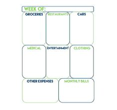 Weekly Budget And Spending Functional Planner  Weekly Budget