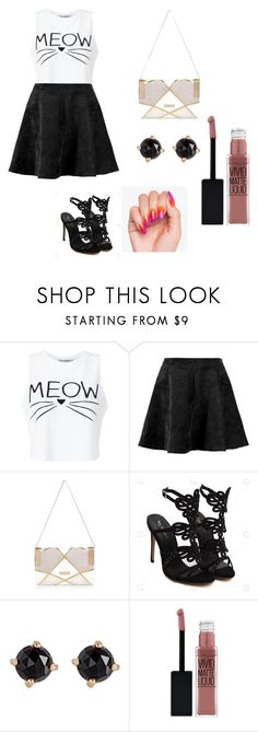 """fd"" by blondebaby233 on Polyvore featuring Miss Selfridge, River Island, Irene Neuwirth and Maybelline"