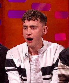Olly on Graham Norton when the person in the red chair say that on Easter women beg to be whipped.