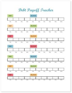 finance printables Visually track your progress on your debt payoff with this debt tracker. This printable budget binder includes pages of financial printables for Find out how to set up your binder and get your finances organized today!