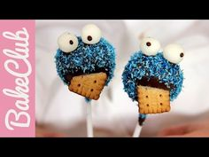 Krümelmonster Cake Pops   BakeClub - YouTube