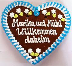 Lebkuchenherz - 35 cm mit Wunschtext , fü Hochzeit,Geburtstag,Taufe,Weihnachten