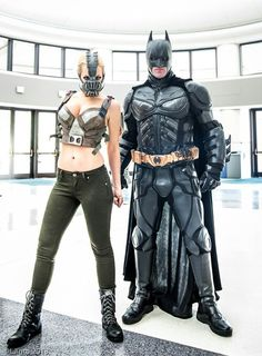 female bane and Batman